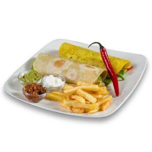 Бурито син Карне в мексикански ресторант Сомбреро 2