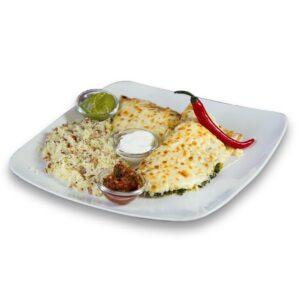 Енчиладас с пиле и спанак в мексикански ресторант Сомбреро 2