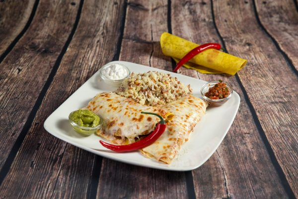 Beef and vegetable enchiladas