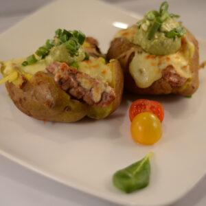 Jacket potato con Cerdo