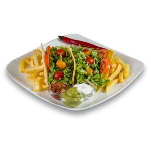 Вегетариански такос в мексикански ресторант Сомбреро 2