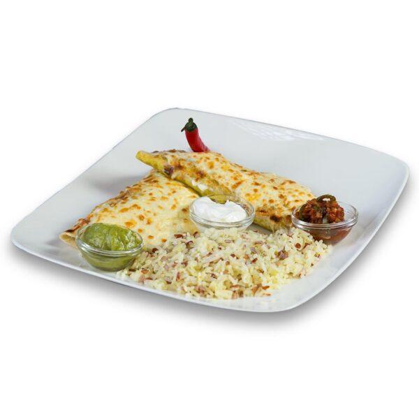Вегитарански енчиладас в мексикански ресторант Сомбреро 2