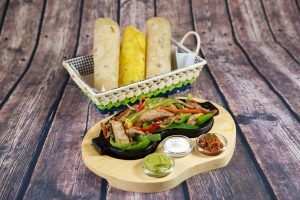 Fajitas with pork meat