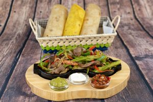 Fajitas with beef meat