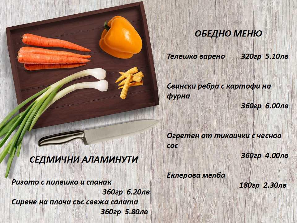 Обедно меню на мексикански ресторант Сомбреро 2 за 06.09