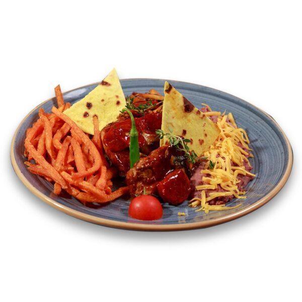 Свински филенца с чоризо и гъби в мексикански ресторант Сомбреро 2